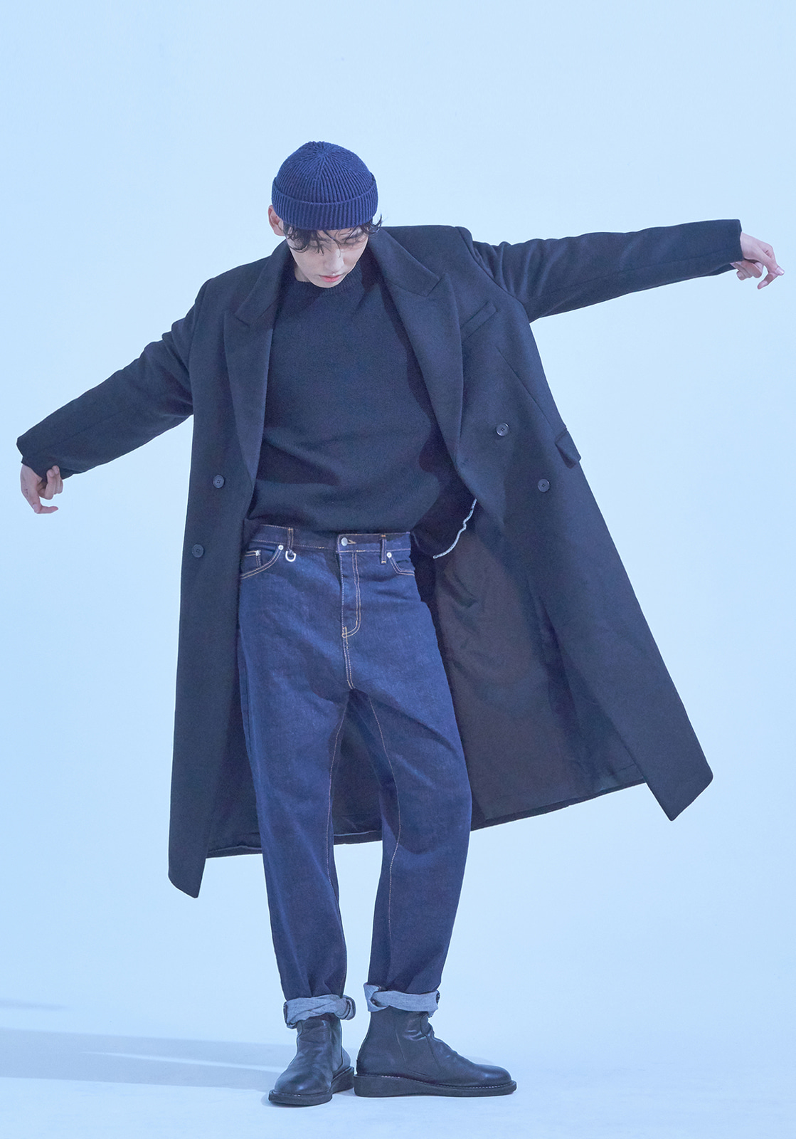 [브아빗x김동규] VG0002 HEAVY DOUBLE WOOL COAT  BLACK