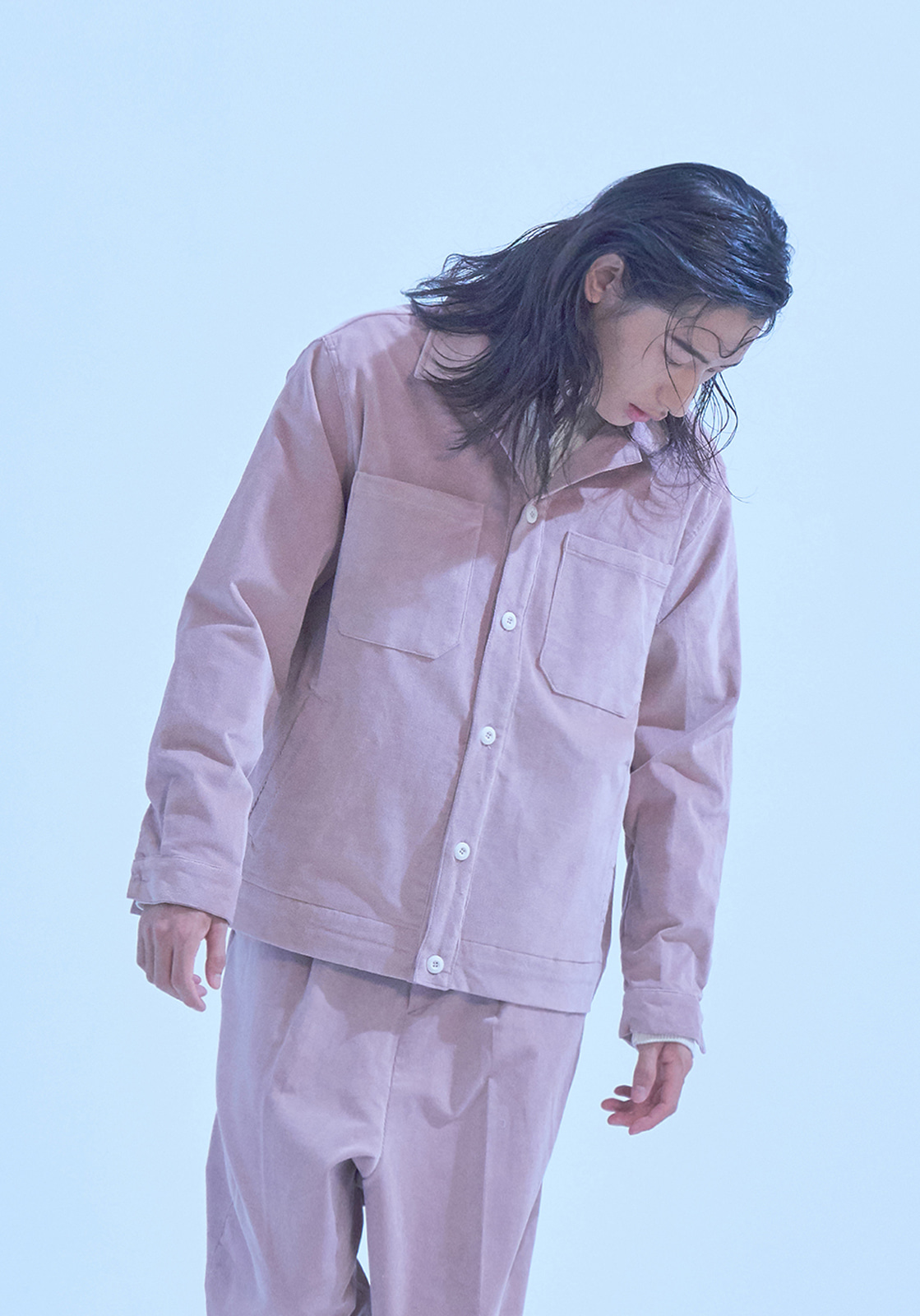 [브아빗x노승화]  VG0006 4POCKET CORDUROY SHIRT JACKET  PINK