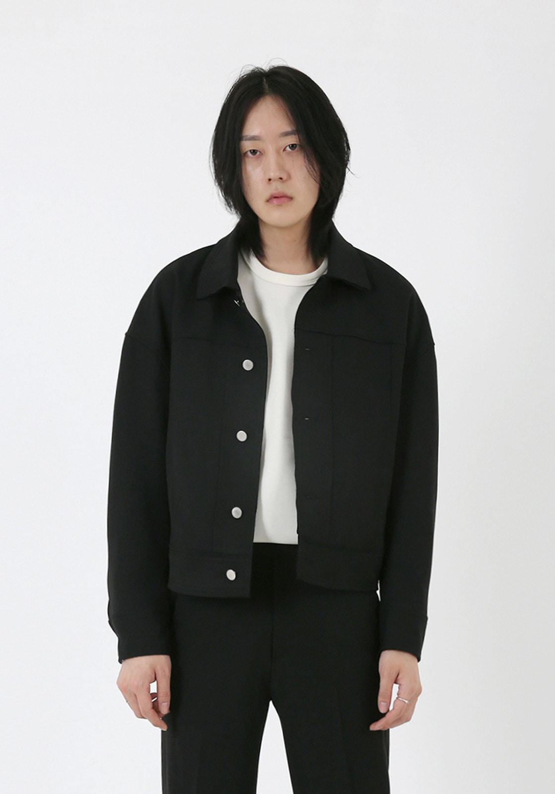 V664 MOROS CUTTING JACKET  BLACK