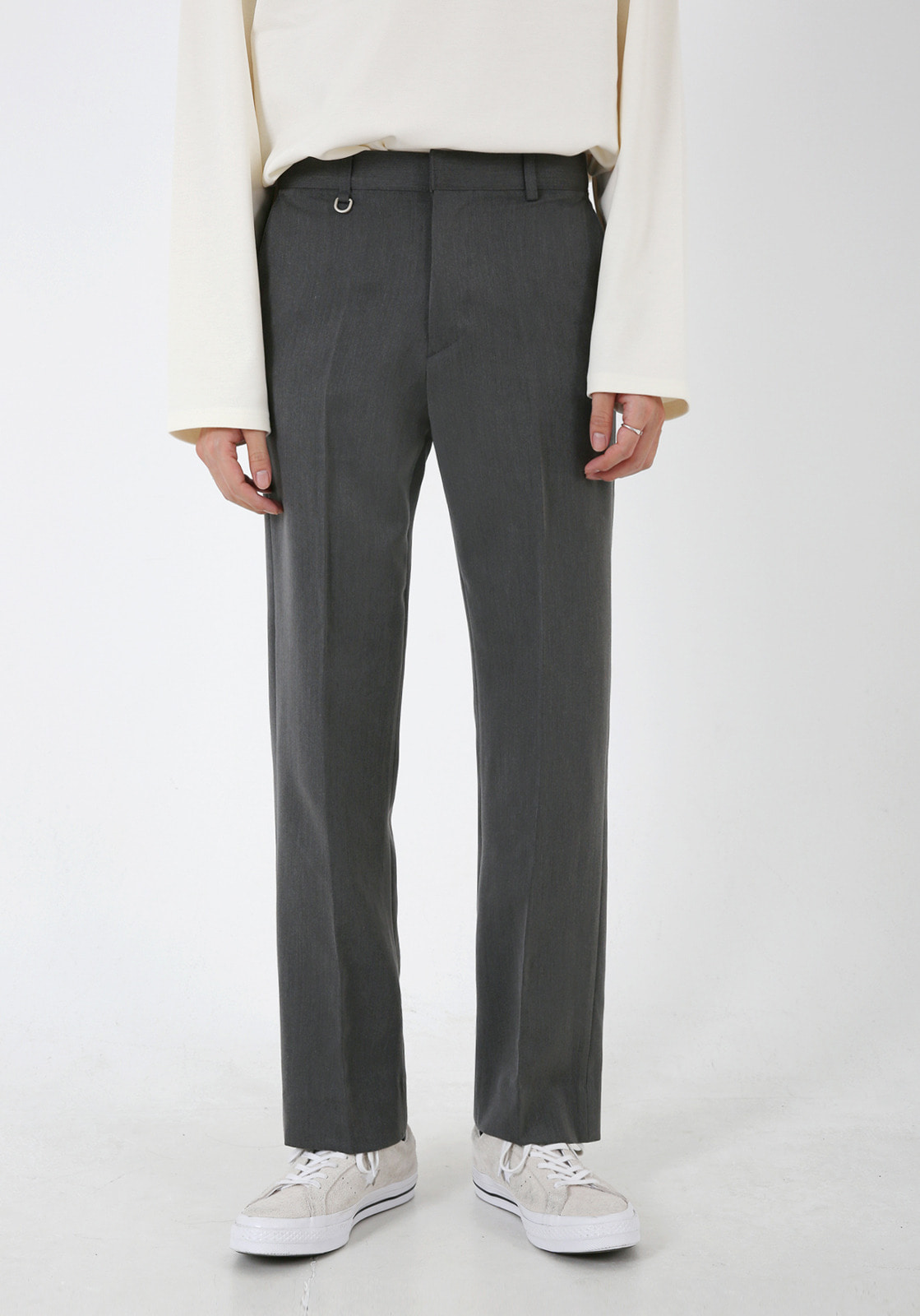 V304 LETO SLIM WIDE SLACKS  GRAY