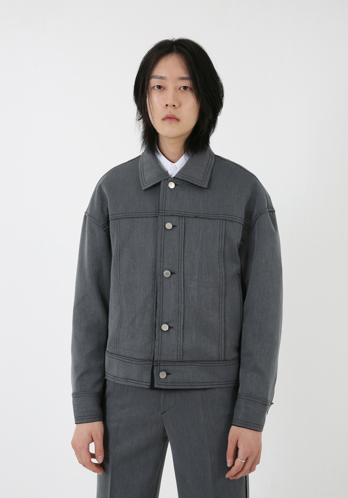 V664 MOROS CUTTING JACKET  GRAY