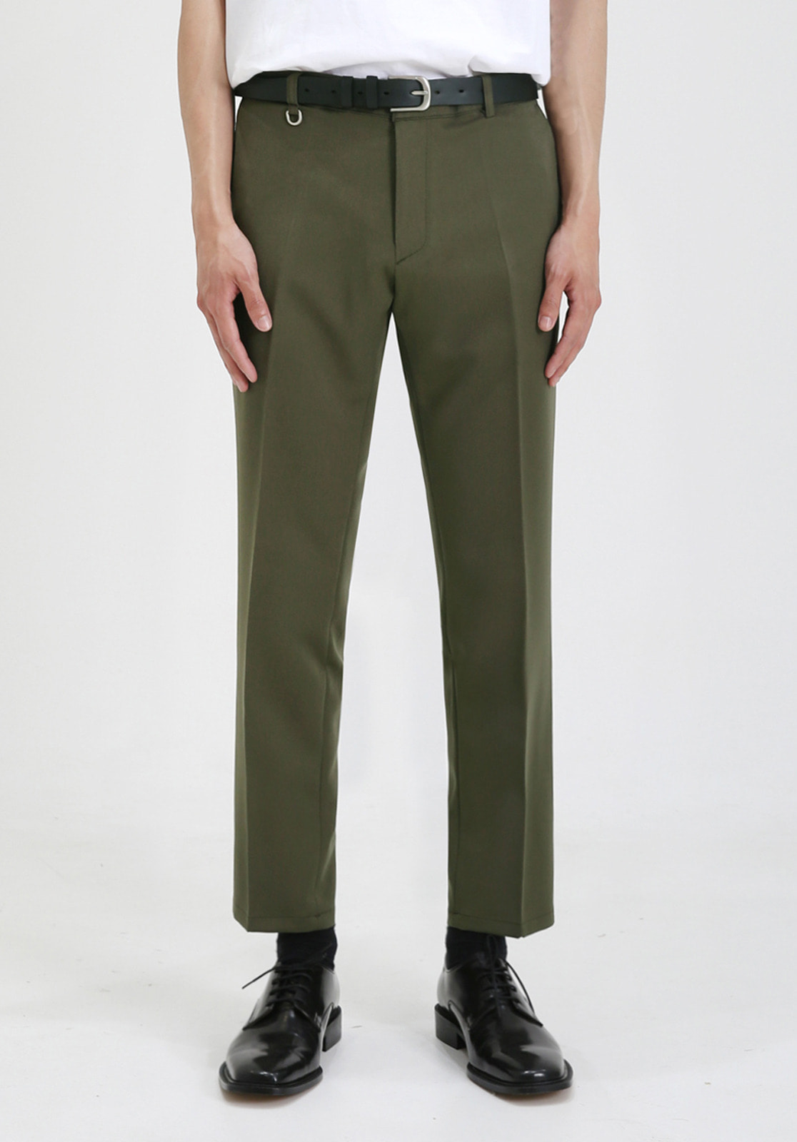 V280 PROUD CROP SLACKS  KHAKI