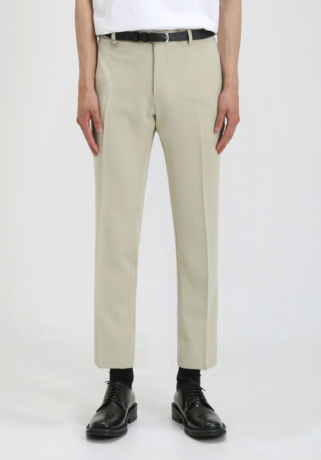 V280 PROUD CROP SLACKS  LIGHT BEIGE